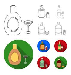 Liquor chocolate champagne absinthe herbal vector