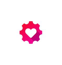 love gear logo icon design vector image