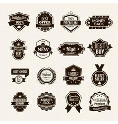 Luxury Labels Black vector image