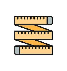 Measuring tape tailor centimeter roulette flat vector