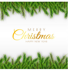 merry christmas background decorative design with vector image