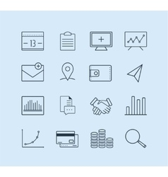 money set logo design elements banking vector image