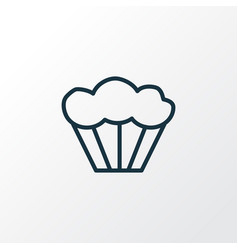 muffin icon line symbol premium quality isolated vector image