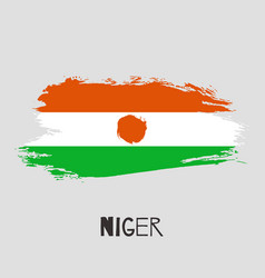 Niger watercolor national country flag icon vector