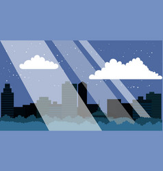 night city with skyscrapers business buildings vector image
