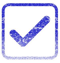 Ok framed textured icon vector