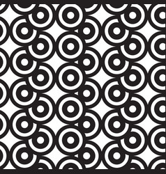 overlap circles black and white pattern vector image