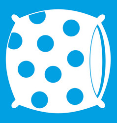 Pillow with dots icon white vector