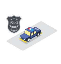 Police car badge isometric vector