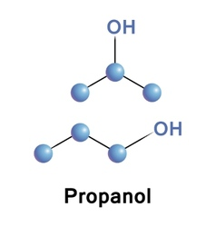 Propanol vector image