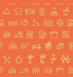 restaurant service signs seamless pattern vector image