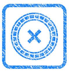 Roulette framed grunge icon vector
