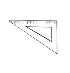 Ruler sketch isolated vector