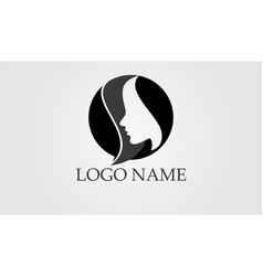 Salon hair woman and face logo and symbols vector