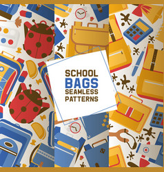 School seamless pattern kids education vector