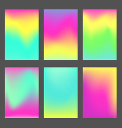 set of bright blue green and pink ui backgrounds vector image