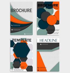 Set of flyer templates brochures design editable vector