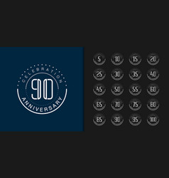 Set premium anniversary logotype modern vector