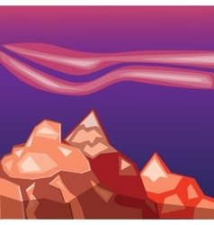Simple red mountains vector
