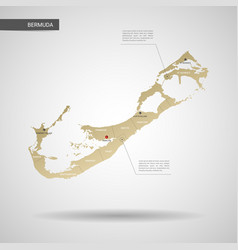 Stylized bermuda map vector