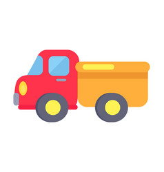 template plastic toy truck on white vector image