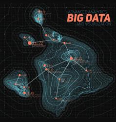 Terrain big data visualization vector