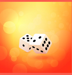 throwing dice on beautiful vector image