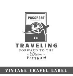 travel label vector image