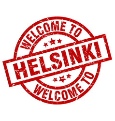 welcome to helsinki red stamp vector image
