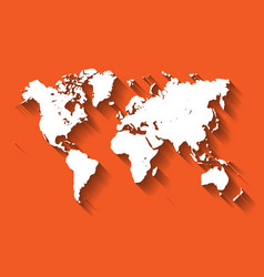 White map of world modern flat design with vector