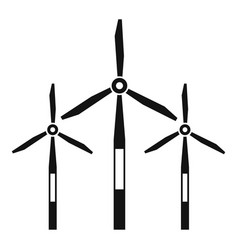 Wind generator turbines icon simple style vector