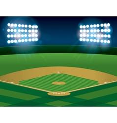 Baseball Field at Night vector image vector image