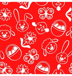 easter muzzle pattern red vector image vector image