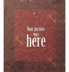 mark on vintage wallpaper vector image
