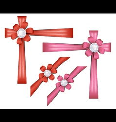 Set of gift ribbons vector image