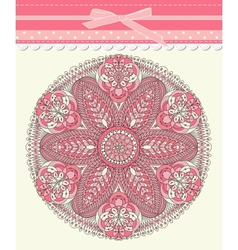 Baby frame vintage with lace vector image vector image