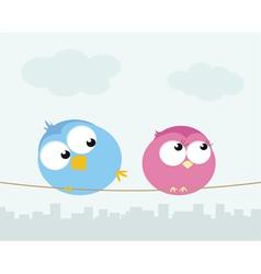 flirting birds vector image vector image