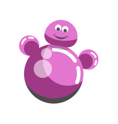 kid toy children plaything roly-poly tumbler doll vector image