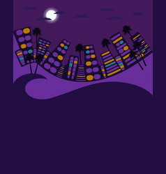 night city in the style of 80s city landscape vector image