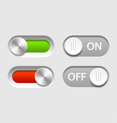 On and Off sliders vector image
