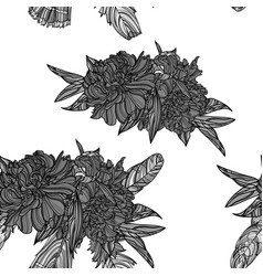 peony bouquets seamless pattern vector image vector image