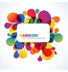 rainbow floral background vector image vector image