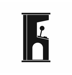 Retro style arcade game machine icon simple style vector image