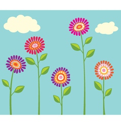 Bright Flower Cllection vector image vector image