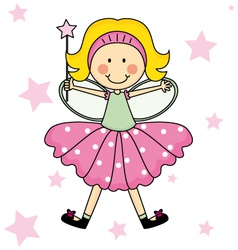 Child Fairy with a magic wand vector image