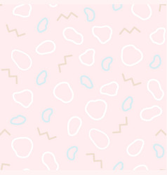 organic seamless pattern in the style of memphis vector image vector image