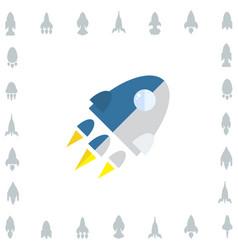 space rocket icon or startup symbol vector image
