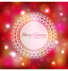Sparkling Colorful Christmas Greeting Card vector image vector image