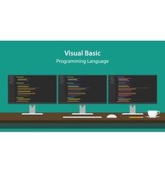 Visual basic programming language vector