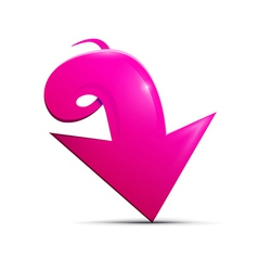 Abstract 3d Pink Arrow Icon vector image vector image